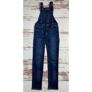 GAP KIDS Denim Dark Wash Stretch Jean Overalls M/8